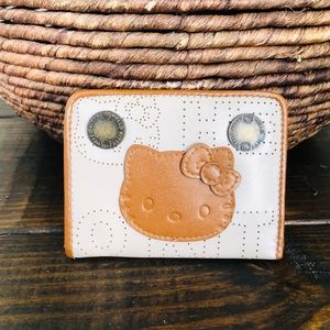 Hello Kitty small brown leather bifold Wallet